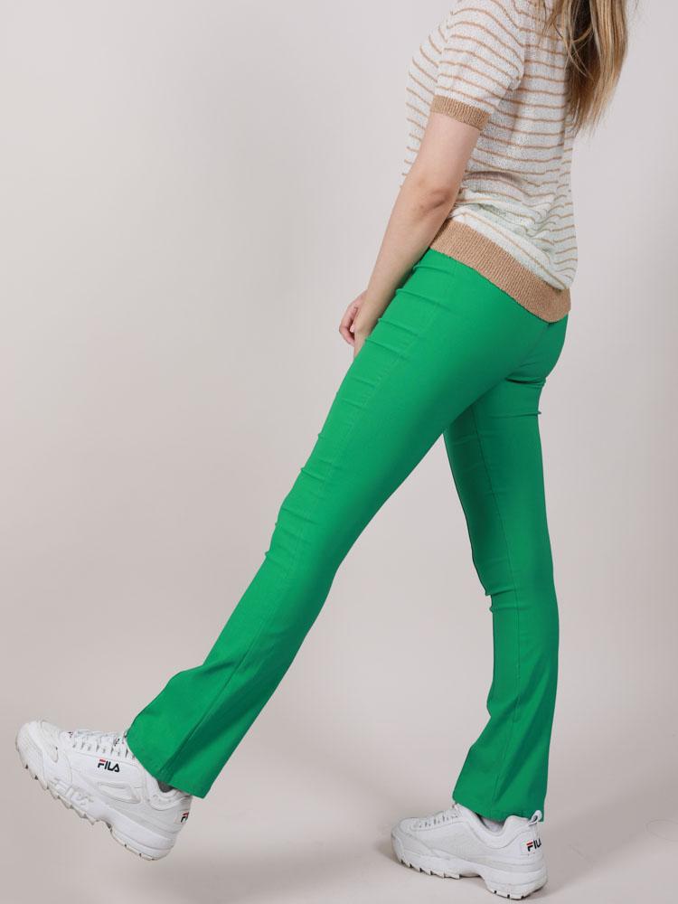 Blossom Pants Stretchy Green Hi Rise Side