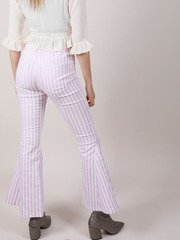 Lavender Stripe Hi Rise Flares Maddox Pants Back