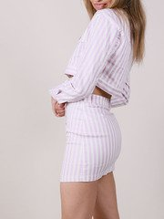 Lavender Striped Hi Rise Maddox Skirt