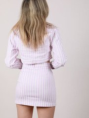 Lavender Striped Hi Rise Maddox Skirt Back