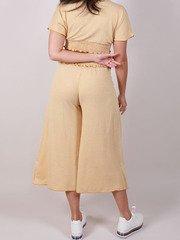 Payden Gingham Pants Hi Rise Ruffle Crops