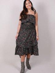 Demi Maxi Skirt Ruffle Floral Maxi
