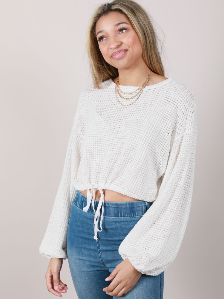 Tate Top Balloon Sleeved Comfy Top