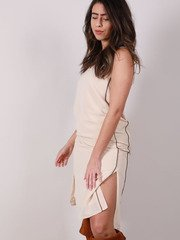 Olivia Slip Dress Slit Side Slip Side