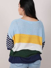 Danny Sweater Short Sleeve Colorful Top Back