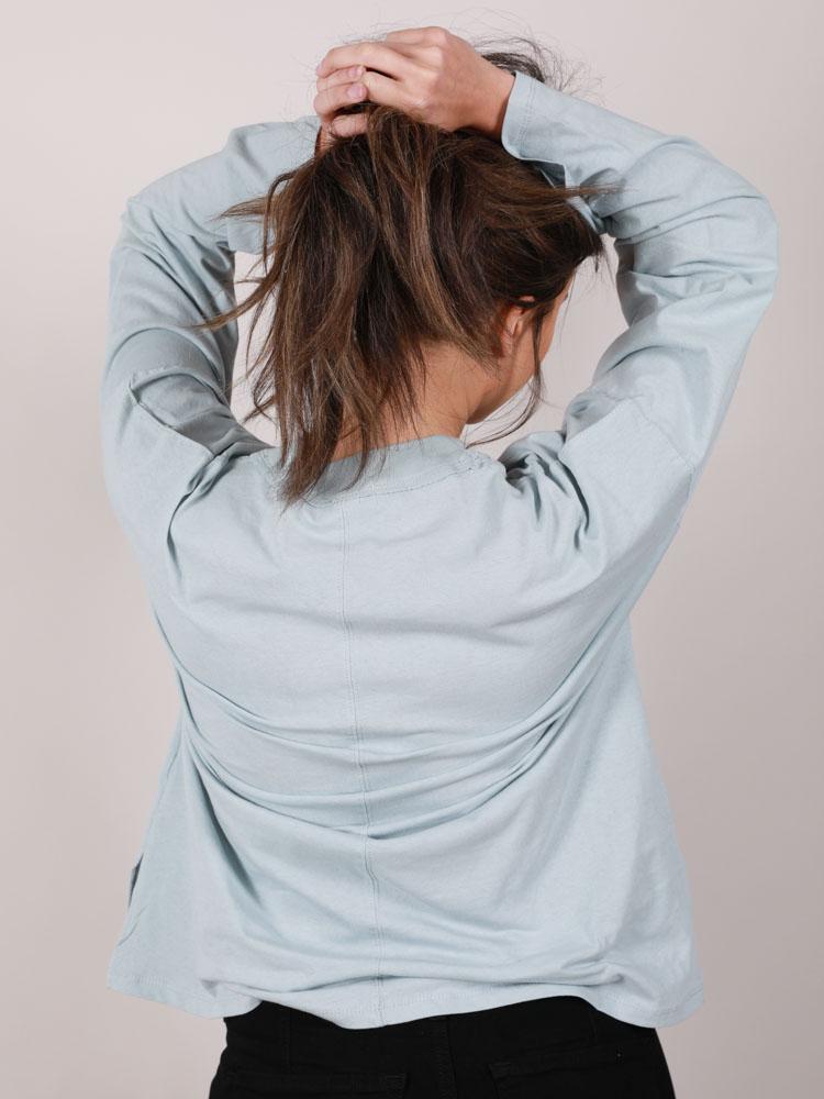 Mock Neck Relaxed Kerrigan Long Sleeve Back