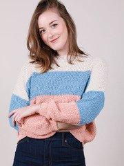 Corinne Sweater Corinne Sweater Pastel Striped Crop