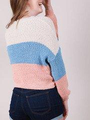 Corinne Sweater Corinne Sweater Pastel Striped Crop Back
