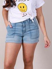 Poche Denim Shorts