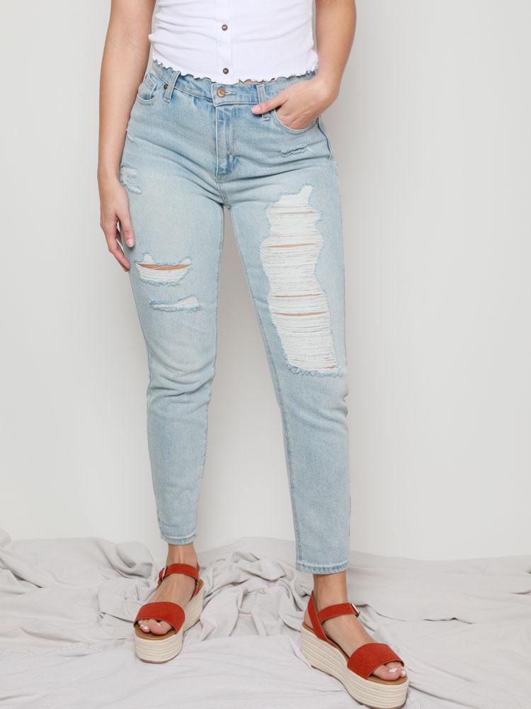 B Young Lola Lukka Animal Print Jeans