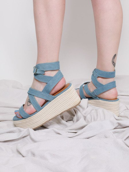 Denim Sandal