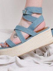 Denim Sandal