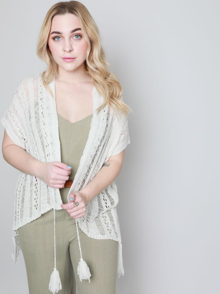 Cierra Crop Kimono