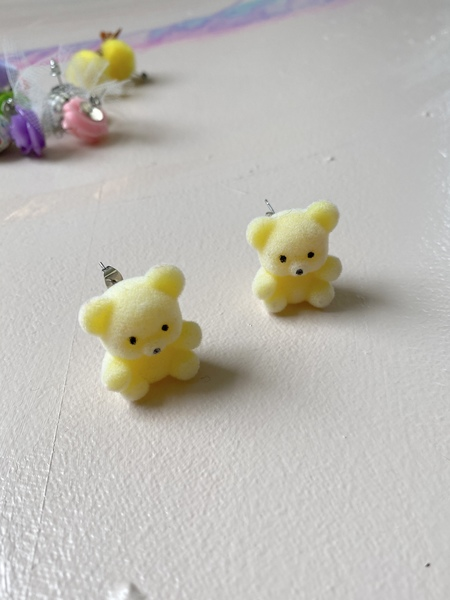 Studmuffin Yellow Bear Earrings