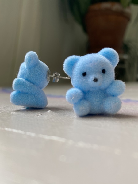 Studmuffin Blue Bear Earrings