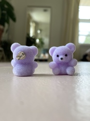 Studmuffin Purple Bear Earrings