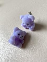 Studmuffin Purple Bear Earrings