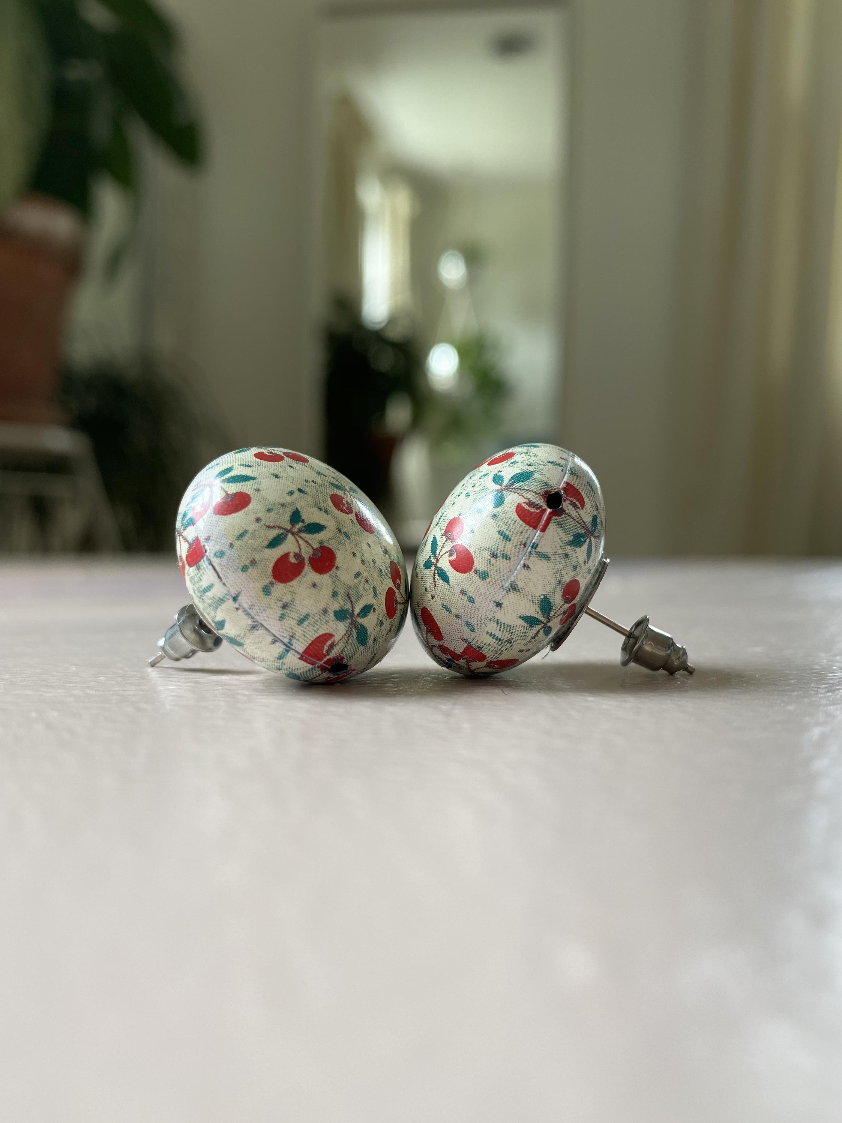 Stufmuffin Cherry Earrings