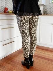 Lena Leopard Skinnies