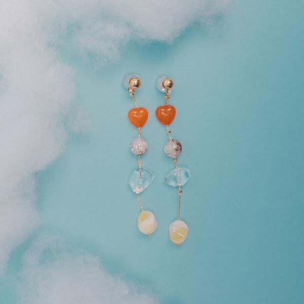 Cascading Gem Earrings