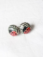 Studmuffin Ladybug Earrings