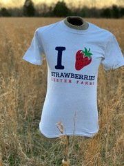 I Love Strawberries (White)