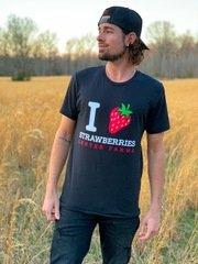 I Love Strawberries (Black)