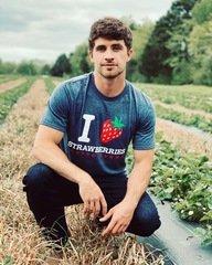 I Love Strawberries  (Heather Navy)
