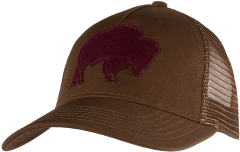 Mountain Khakis Bison Trucker's Cap - Coffee