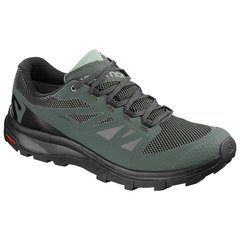Salomon Men's Outline GTX Shoes - Urban Chic - BLK-Green