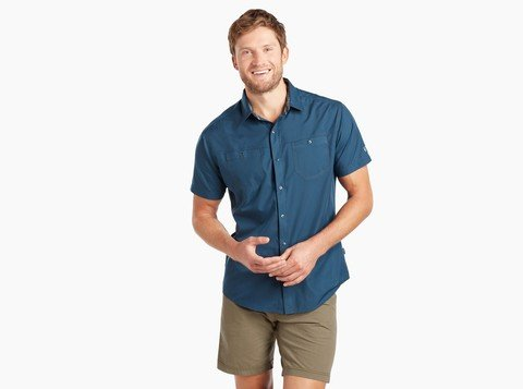 Kuhl Men's Stealth SS Shirt - Blue Depths