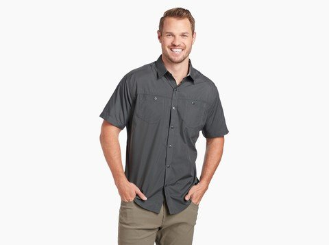 Kuhl Men's Stealth SS Shirt - Black-Koal