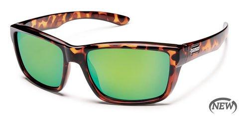 Suncloud Mayor Tortoise/Green Mirror Sunglasses
