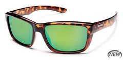 Suncloud Mayor Tortoise/Green Mirror Sunglasses