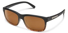 Suncloud Stand Black Trt Fade/Brown Polarized Sunglasses