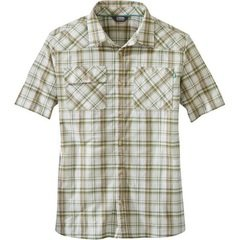 OR Men's Growler II SS Shirt - Sand Plaid
