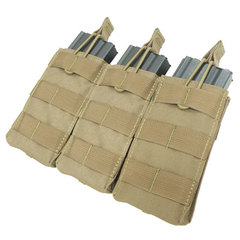 Condor MA27 Triple M4-M16 Open Top Mag Pouch-Tan