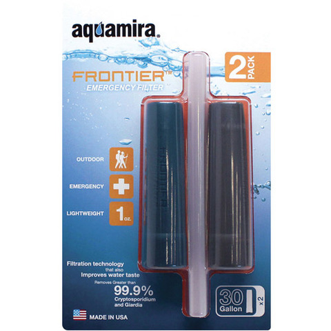 Aquamira Frontier Emergency Water Filter-2 Pack