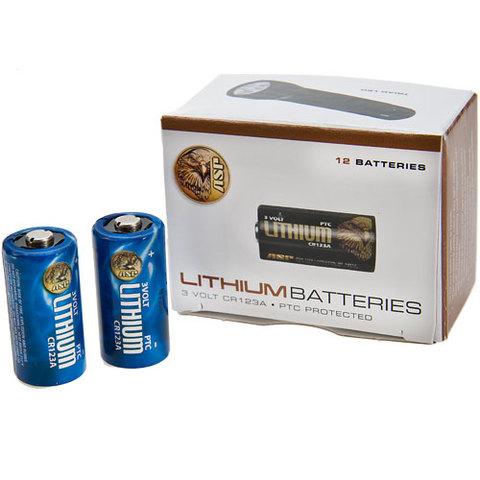 Asp Lite Cells 123A Lithium Batteries Box of 12