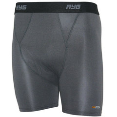 AYG Men's 4-Way Stretch Boxer Brief-Nickel