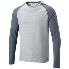 Craghoppers Ruston Long-Sleeved T-Shirt-Quarry Gray/Black Pepper