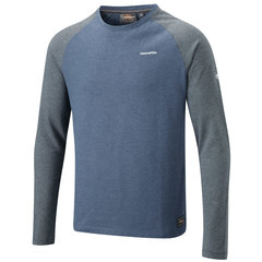 Craghoppers Ruston Long-Sleeved T-Shirt-Royal Navy/Black Pepper