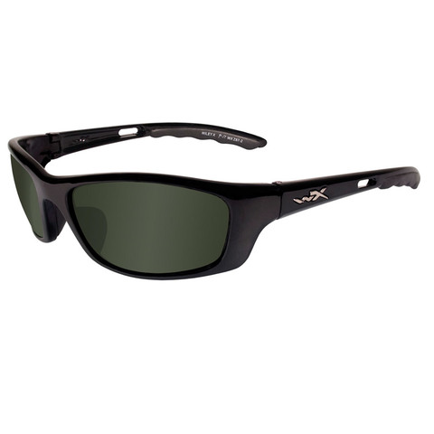 Wiley X P-17 Sunglasses Polarized Green- Gloss Black