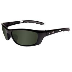 Wiley X P-17 Sunglasses Polarized Green- Gloss Black
