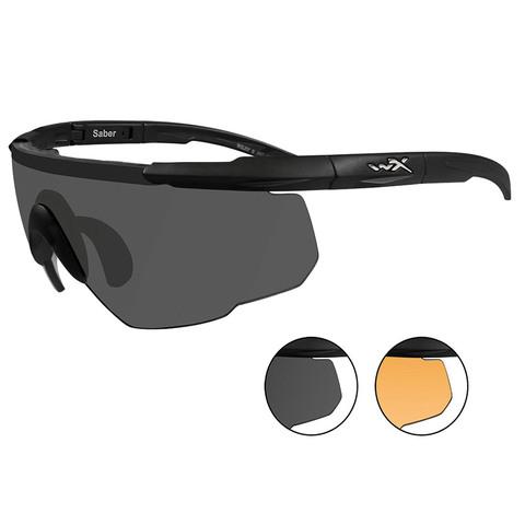 Wiley X Saber Advanced 306 Gray+Rust Lens-Matte Black Ballistic Eyewear