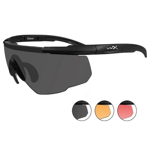 Wiley X Saber Advanced 309 Gray+Rust+Vermillion Lens-Matte Black Eyewear