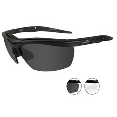 Wiley X Guard 4004 Gray+Clear Lens-Matte Black Ballistic Eyewear