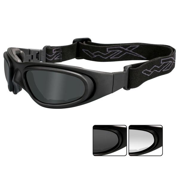 Wiley X SG-1 V-Cut Googles Gray+Clear Lens-Matte Black Frame