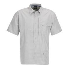 Sweep Independent Button-Up SS Shirt-Gray Plaid