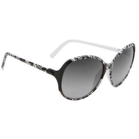 Spy Optic Edyn Black w/White Lace-Black Fade Lens